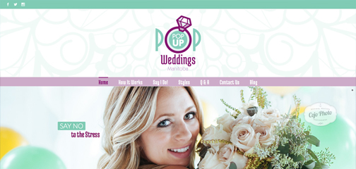 Designs that fly Pop Up Weddings