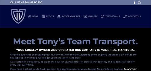 Designs that fly Tonys Team Transport